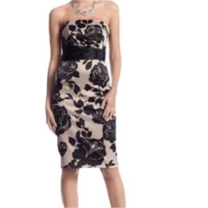 White House Black Market Strapless Satin Dress